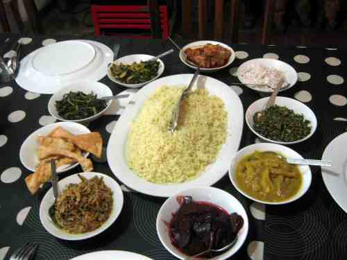 Rice with assorted curries and vegetables Interesting travel experiences in Asia