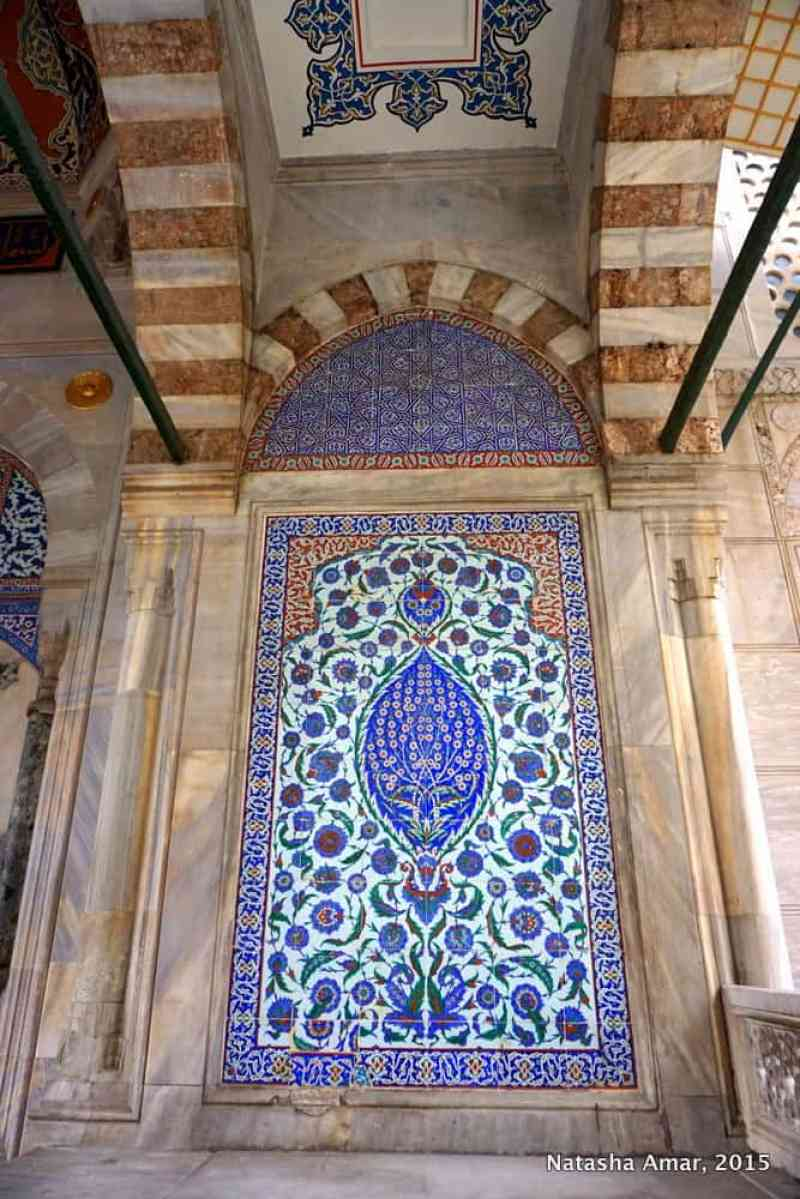 Tile at the entrance of the Sultan tombs- aya sofya istanbul
