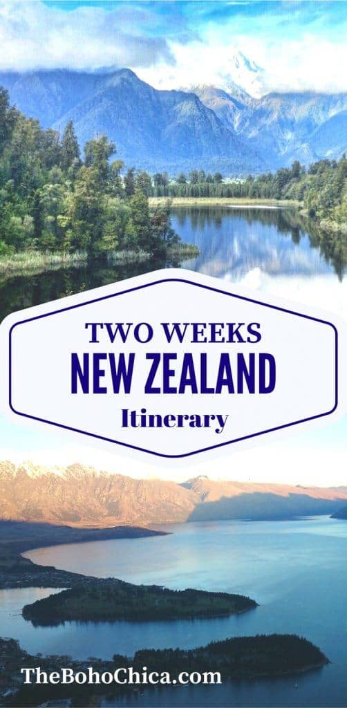 How to Spend Two Weeks in New Zealand: A complete 2 week New Zealand itinerary for the best spots in the North Island and South Island of New Zealand, from my New Zealand honeymoon. Plus practical tips and advice to plan your own 2 weeks in New Zealand and your New Zealand road trip.