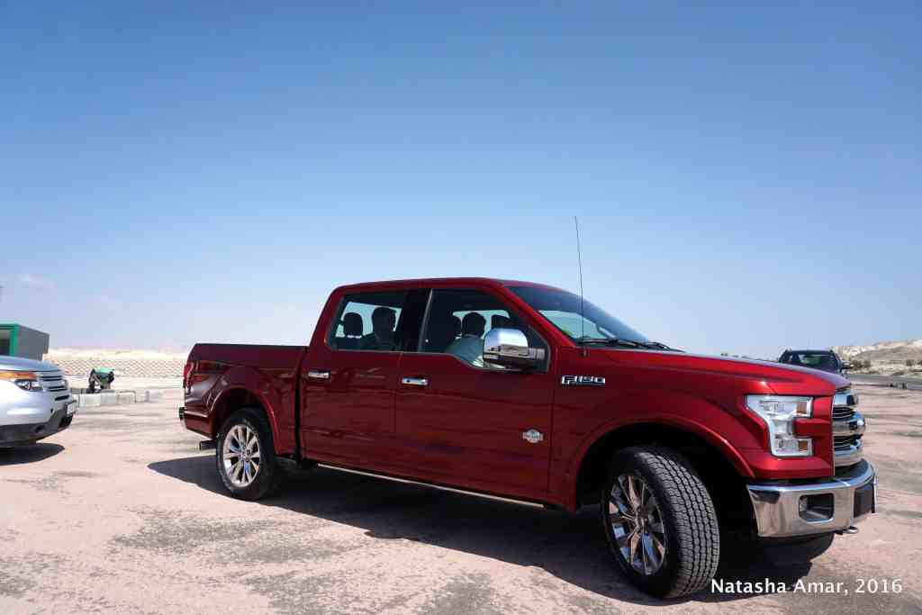 Ford F150 on our roadtrip in Jordan