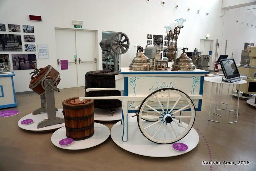 Gelato museum at the Carpigiani Gelato University Italy