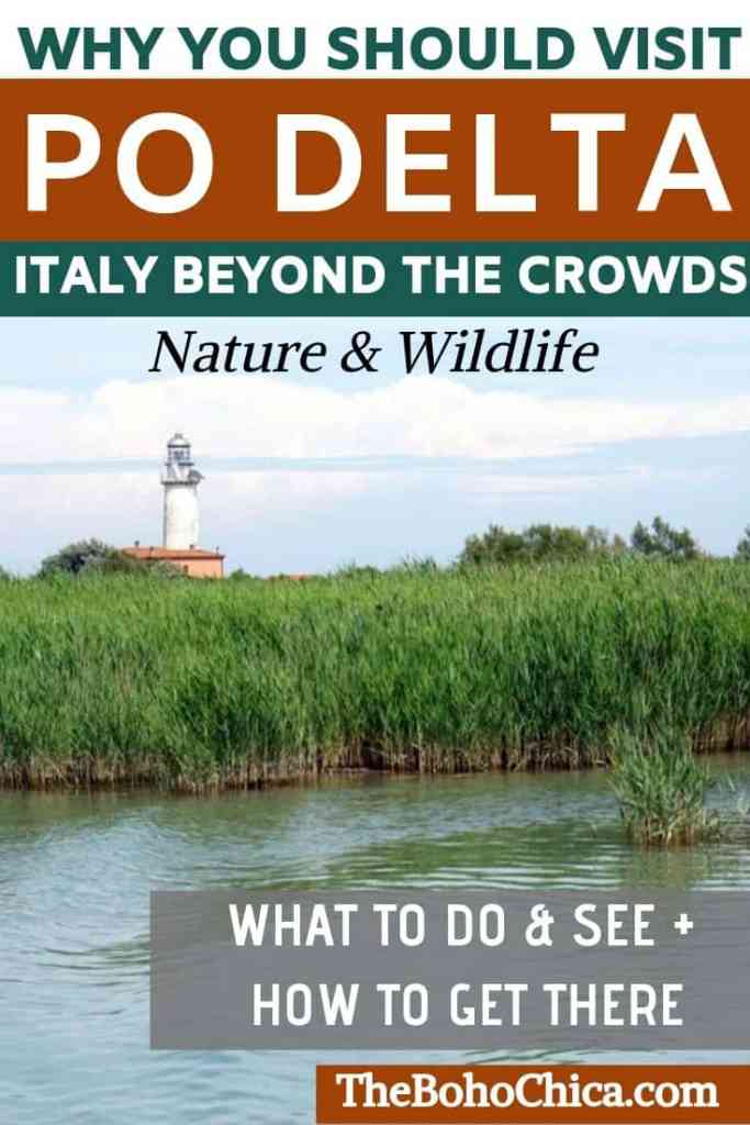The Po Delta in Italy's Emilia Romagna is known for its biodiversity in nature and wildlife. Heres why its a must for nature-lovers traveling to Italy. #Italy #Italytravel #EmiliaRomagna #inEmiliaRomagna