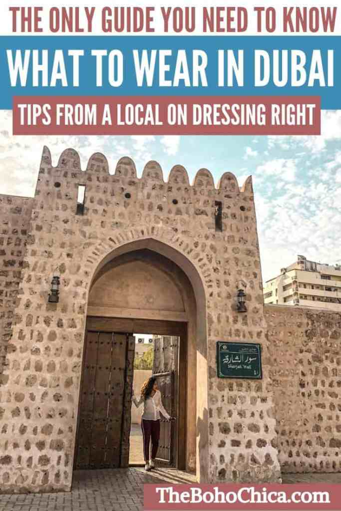 What To Wear in Dubai: The Ultimate Dubai Packing List tells you how to pack for Dubai and the right Dubai dress code, whether it's a desert safari, shopping mall, mosque, beach, or nightclub in Dubai you're going to. My tips on Dubai clothing and fashion are from the perspective of a Dubai born and raised expat along with style tips for both men and women to help you gain cultural context when you pack for Dubai. #Dubai #VisitDubai #PackingList #DubaiPackingList
