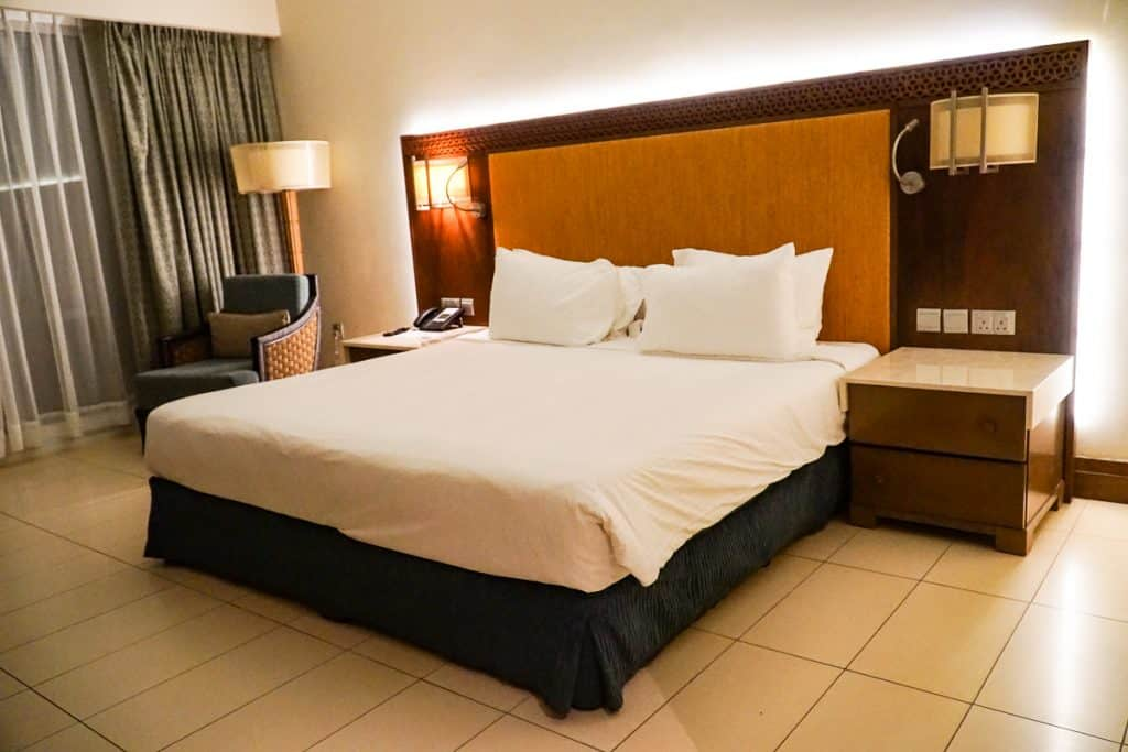 Superior king room at Millennium Resort Mussanah