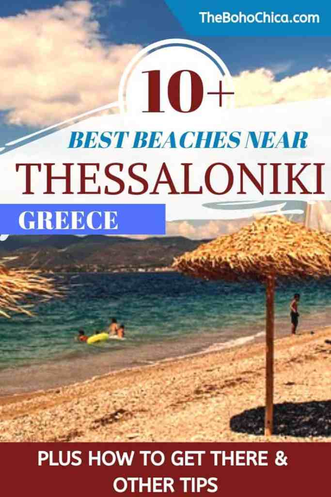 Best Beaches Near Thessaloniki: Looking for some beach time close to Thessaloniki? Here are the best beaches near Thessaloniki, just a short drive away and easily reachable by bus or boat. #Thessaloniki