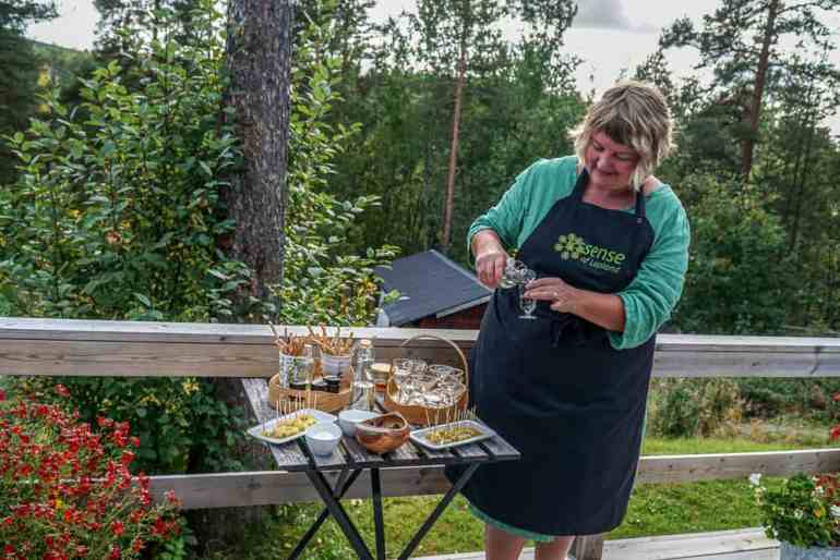 A Taste of the Arctic in Swedish Lapland: Eva Gunnare on her terrace