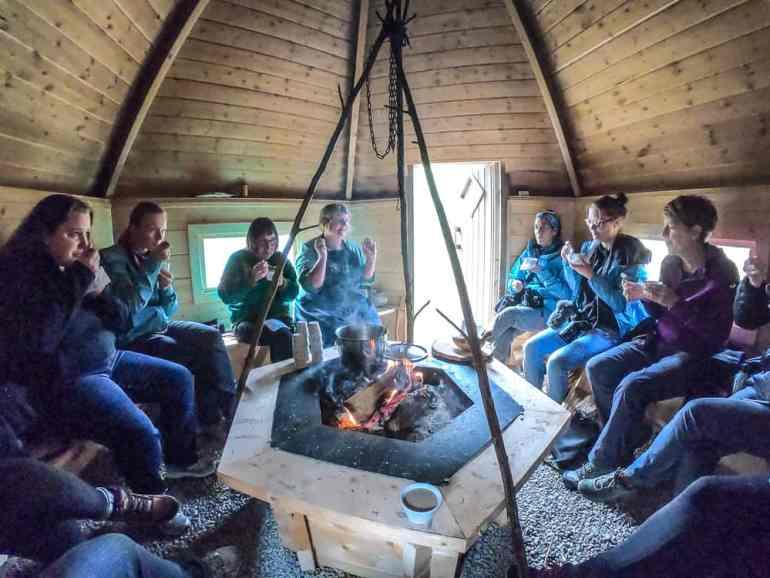 A Taste of the Arctic in Swedish Lapland: Inside a Sàmi smoke hut in Jokkmokk