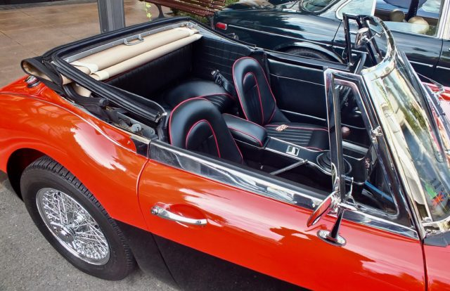 Austin Healy 3000 Sprite Interior at meet