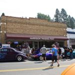 A street full of cars at Harrison Haul Ass Show and Shine event. Photo by Sterling Bingham for The Boise Beat