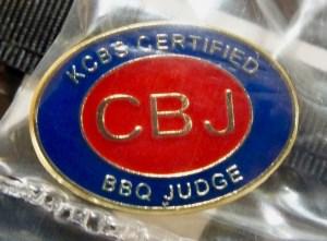 A KCBS JUdge's Pin