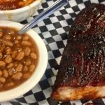 Ribs and beans, a divine combination