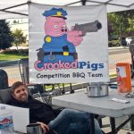 Taking a break at Crooked Pigs BBQ