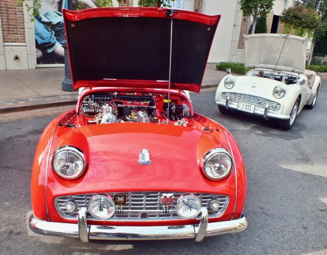 Triumph TR3B at the meet