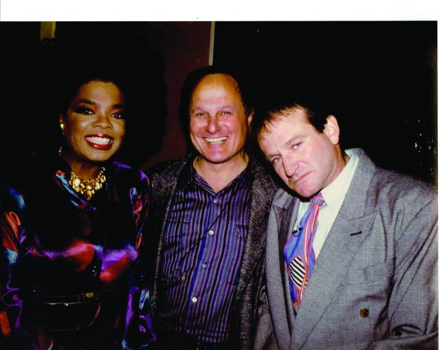 Budd with Oprah and Robin Williams