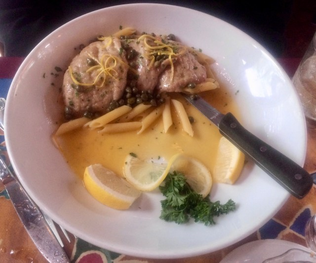 Veal Piccata at Gino's Italian Restaurant in Meridian
