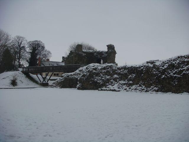 Whittington Castle remains