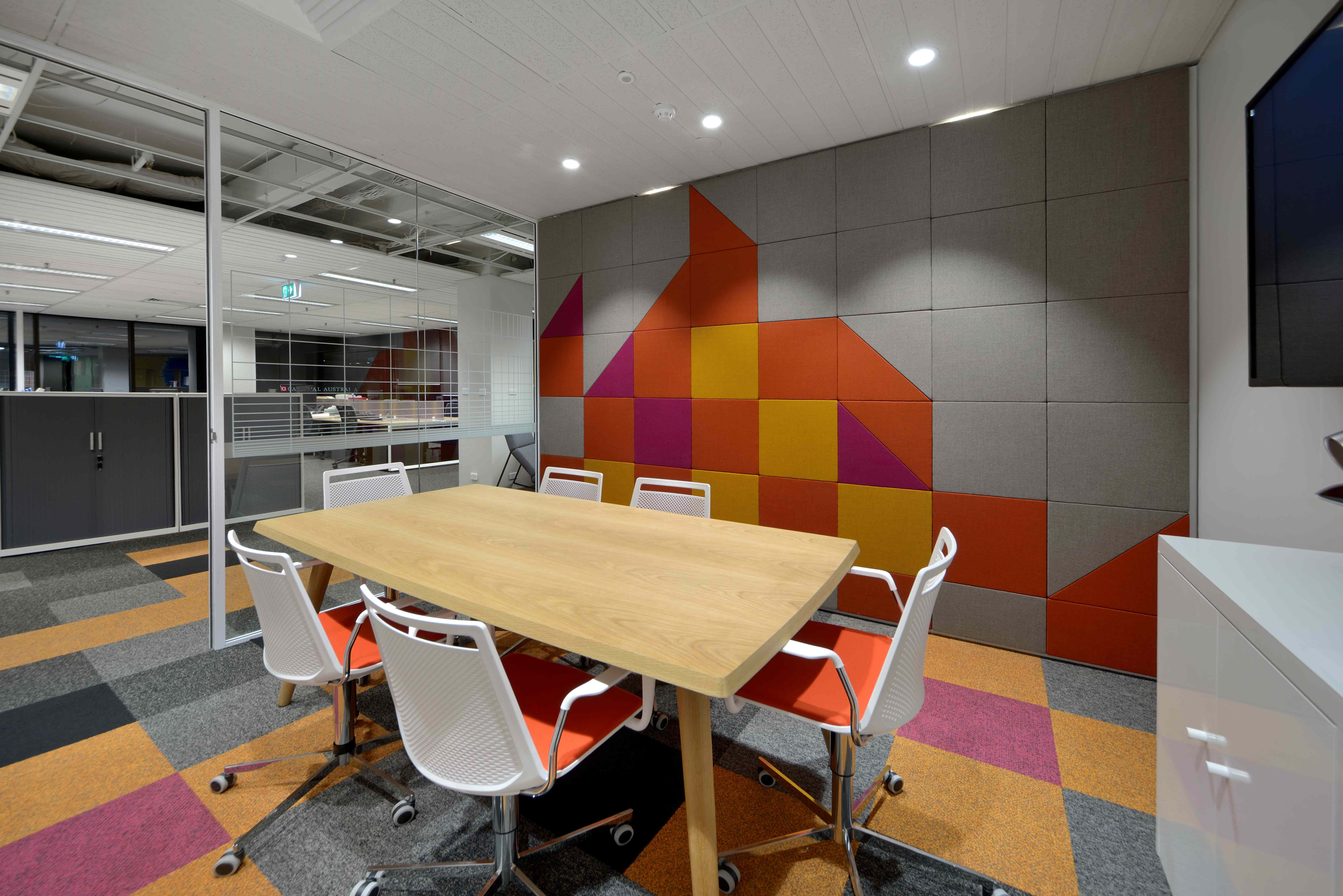 tiled kitchen floors wall shelves for financeplus, north sydney 2014 | the bold collective