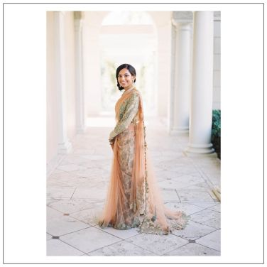 Bride Namratha in Capelet Saree