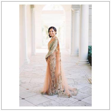 Bride Namratha in Capelet Saree