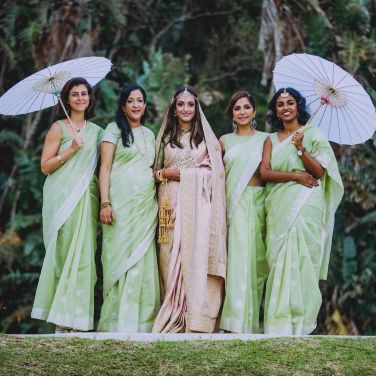 Bride Anuradha Ramphul @anuramphul in Sabyasachi for her wedding