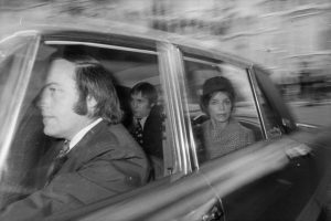 Lady Lucan leaving the custodial hearing