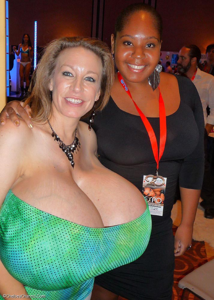 Chelsea Charms green top partying  The Boobs Blog