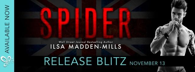 Release Day Blitz: Spider by Ilsa Madden-Mills @ilsamaddenmills @jennw23
