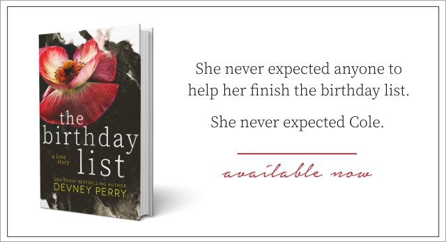 Release Day Blitz: The Birthday List by Devney Perry @devneyperry @InkSlingerPR