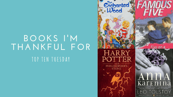 Books I'm Thankful For | Top Ten Tuesday #22