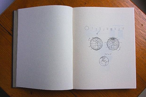 open book with scientific diagrams
