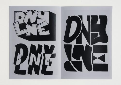 DNYLNE zine hand rendered typography