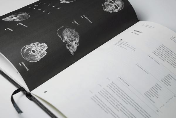 anatomy osteology book design inspiration
