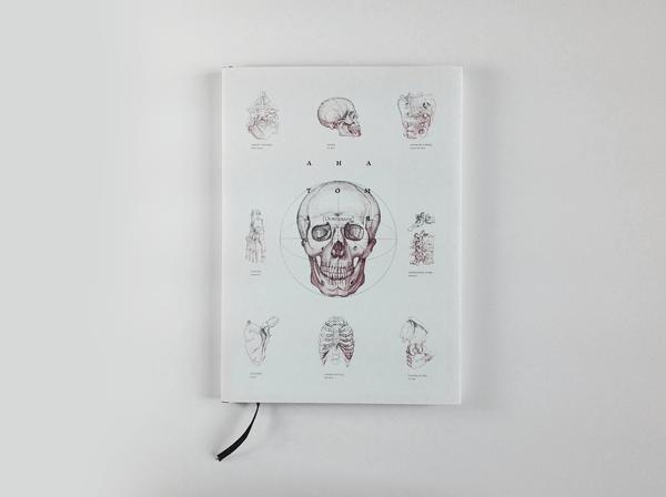 anatomy osteology book design inspiration medical diagram cover skull
