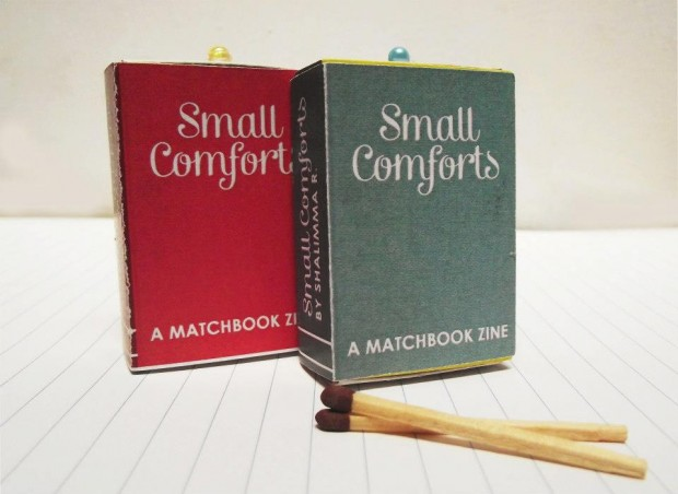 Small Comforts: A Matchbox Zine book design inspiration