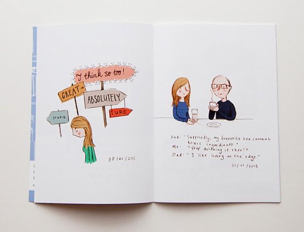 illustration zine bok design inspiration