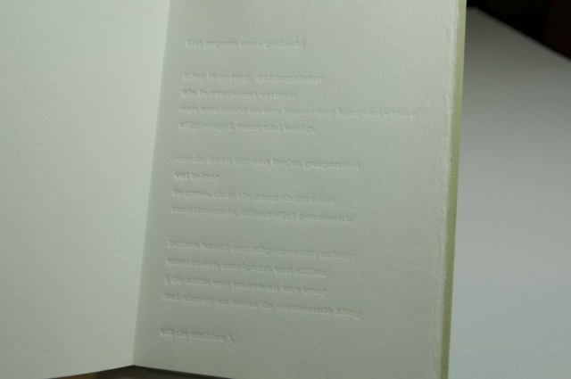 graphic design inspiration – a blind embossed book printed without ink