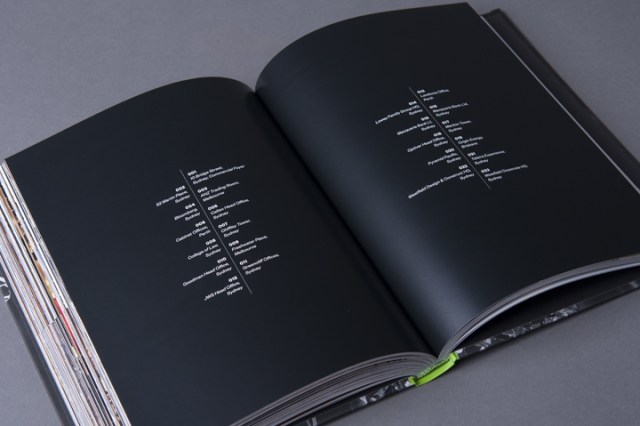 graphic design inspiration - black typographic book interior spread design