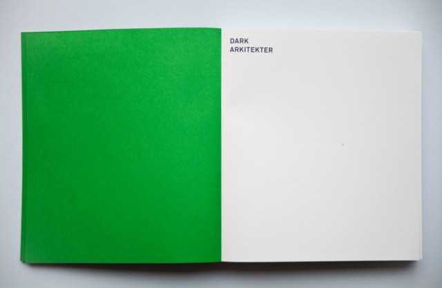 book design inspiration - Dark Arkitekter