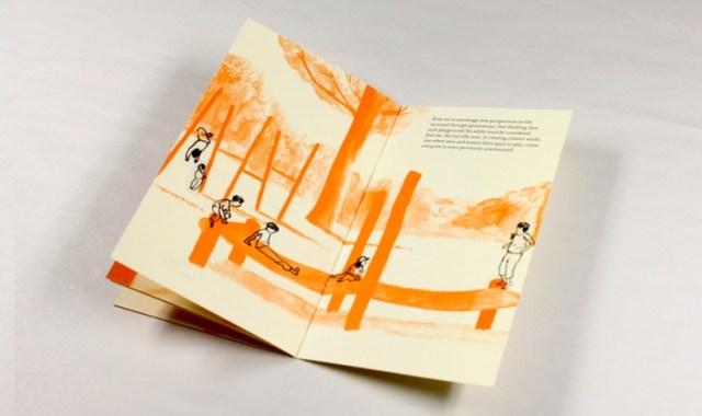 illustrated book spread