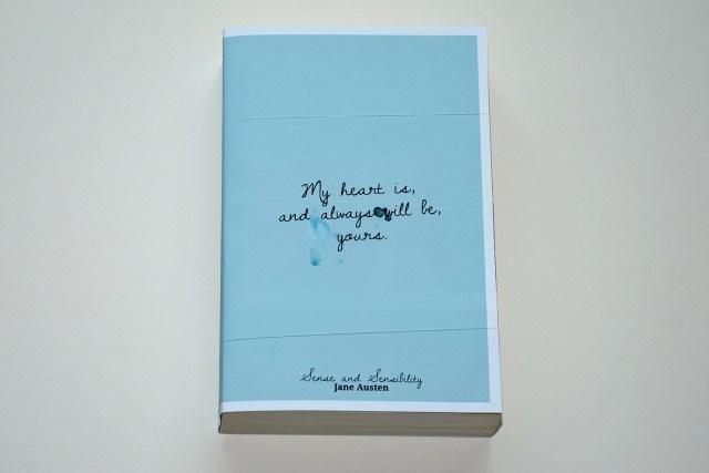 Jane Austen – Sense and Sensibility book cover design