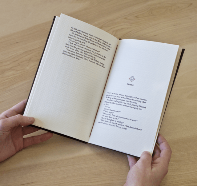 Book Design Inspiration – A Scandal in Bohemia hand-bound book
