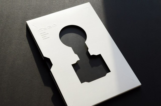 Book Design Inspiration – Catalog with a die-cut cover