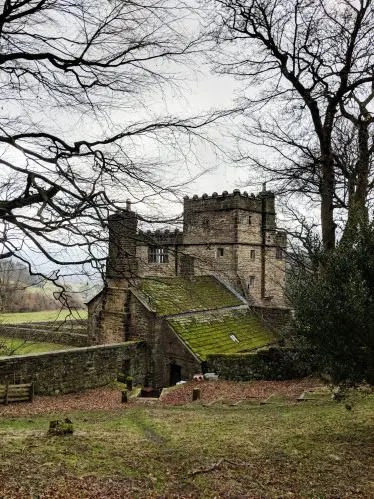 the sidea aspect of North Lees Hall - Jane Eyre Trail