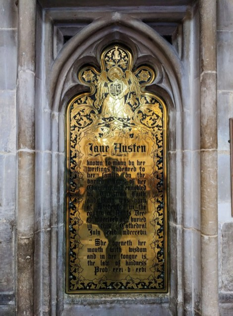 Jane Austen Memorial Plaque Winchester Cathedral