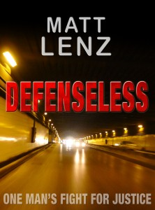 Book cover Defenseless by Matt Lenz