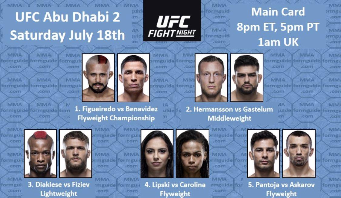 UFC: PICKS FOR TONIGHT'S EVENT IN ABU DHABI — #UFCFIGHTISLAND2 — AND SOME BOOZIN' & BRUISIN'…AGAIN! #BoozinNBruisin2