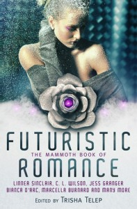 Cover for The Mammoth Book of Futuristic Romance edited by Trisha Telep