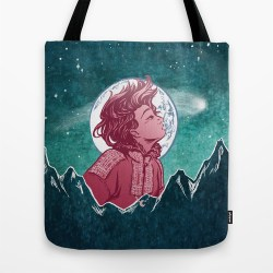 The Astronomer Who Met The North Wind Society6 Tote