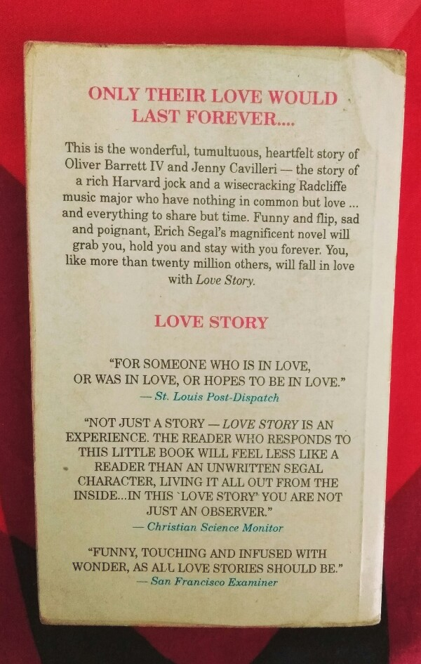 Love Story By Erich Segal Review The Enchanting World Of Books