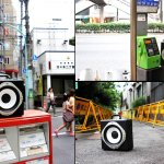 boomcase in tokyo japan boombox streets telephone booth red